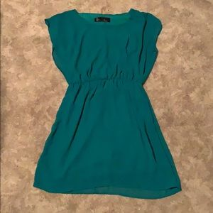 Green dress in great condition!  Gathered at waist